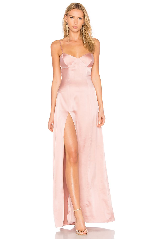 cd1281ee1d668 Michelle Mason Bustier Gown in Dark Blush | style | Dresses, Halter ...