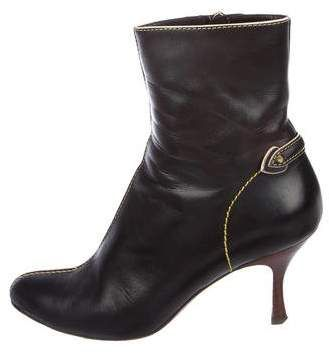 manchester great sale online Jil Sander Semi-Pointed Leather Ankle Boots outlet 2014 q8rN7