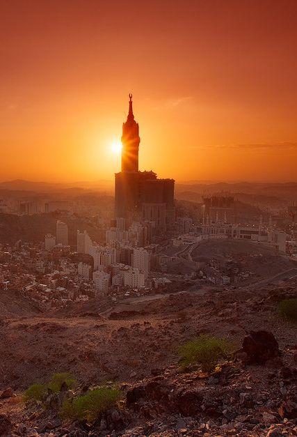 Sunset In Mecca By Hotels Fairy Com Mecca Hotel Grand Mosque Mecca