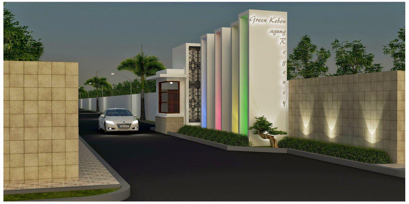 Model Desain Gapura Minimalis Terbaru Building