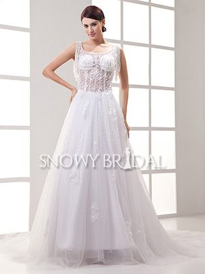 white aline long beaded tulle square with straps corset