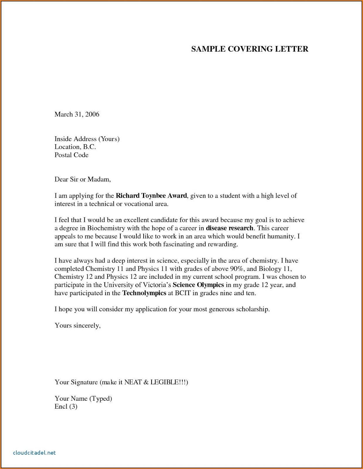 Cover Letter For It Job Application Pdf Information