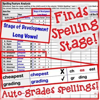 Primary Automatic Spelling Inventory Template Word work - inventory template
