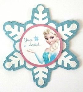 handmade Frozen Elsa invitation elsa svg girls birthday party