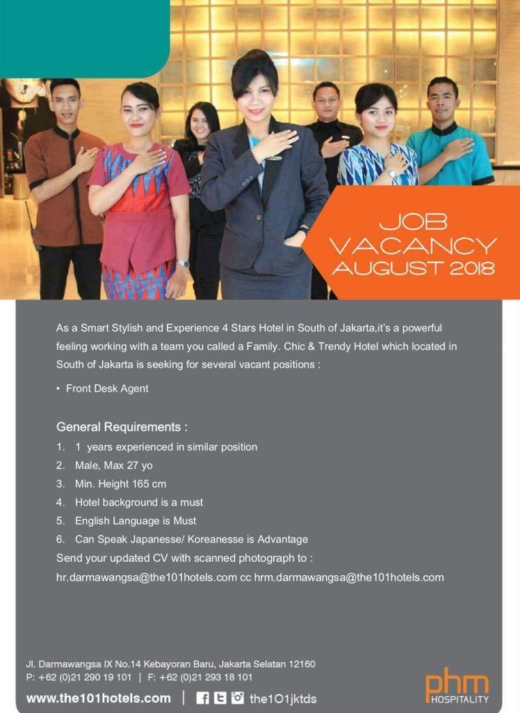 101 Jakarta Jobs News August 2018