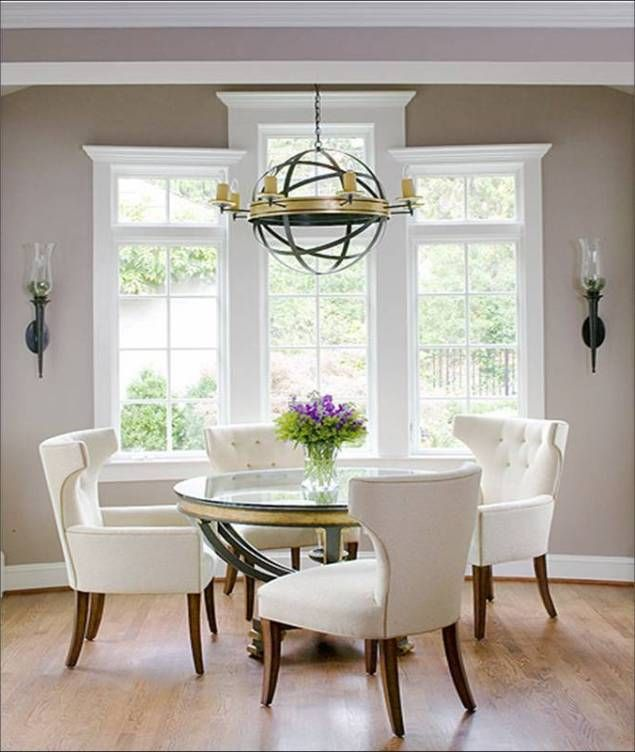 Exceptionnel Glass Round Dining Table For 6