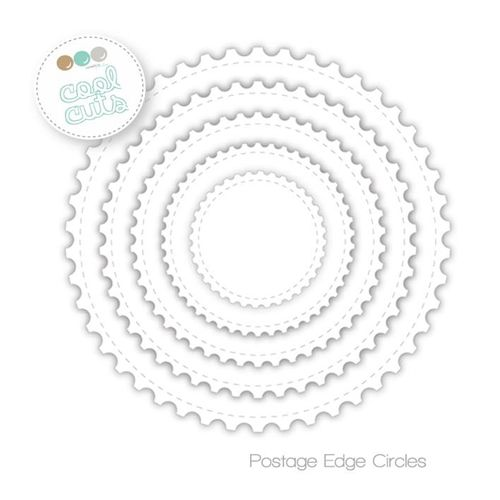 Image result for create a smile postage edge circles