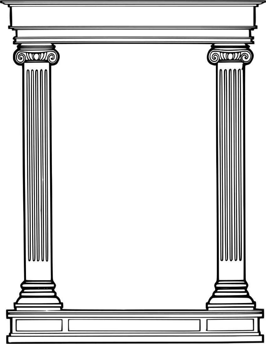 Roman Column Frame Roman Columns Pillar Design Architecture Sketchbook