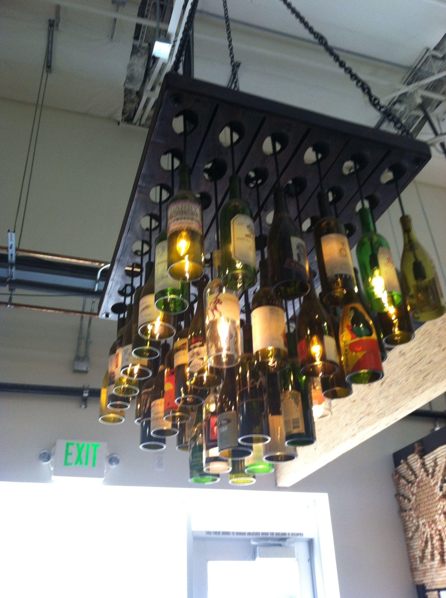 Antique Riddling Rack And Bottles