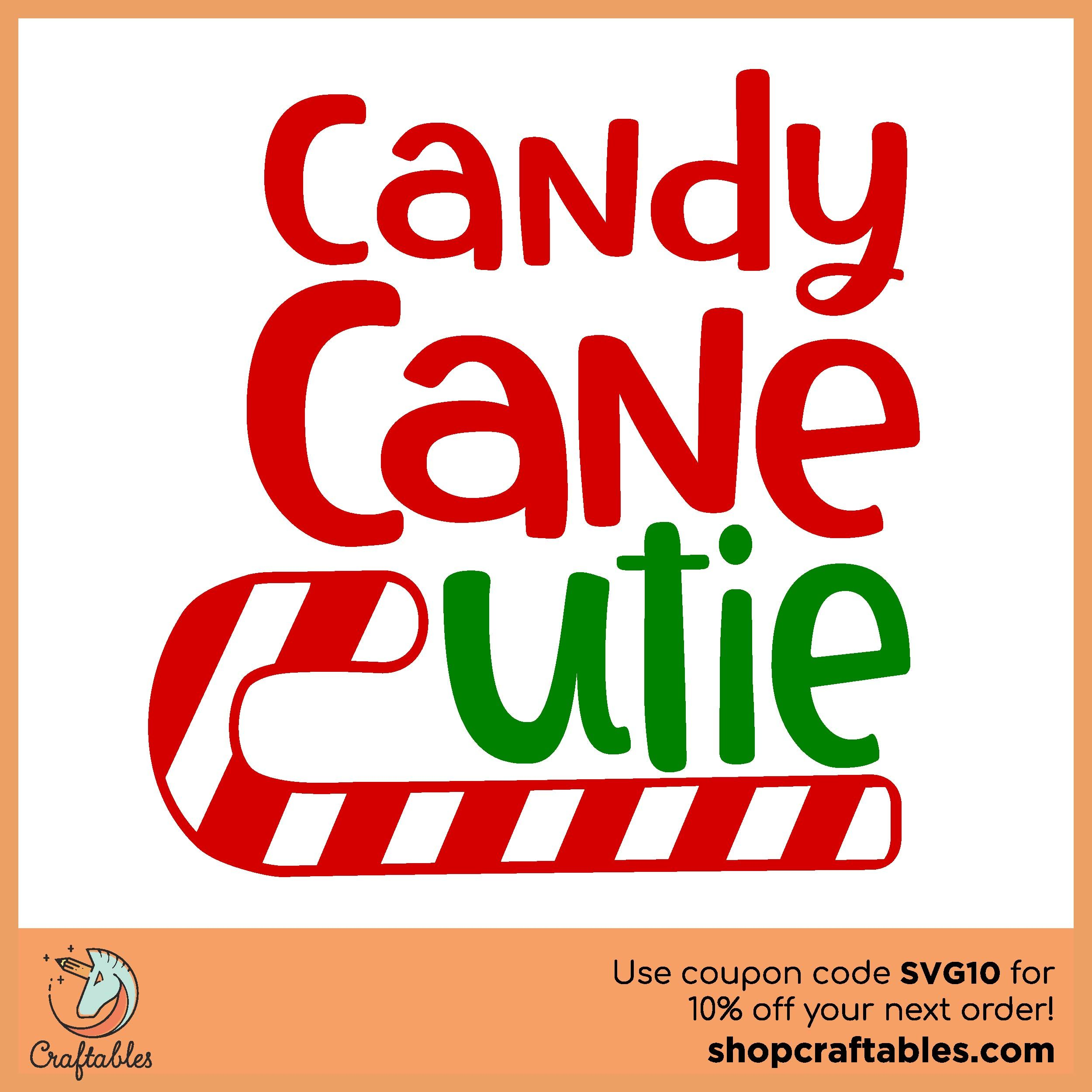 Candy Cane Cutie SVG by 19th Studio Design Bundles
