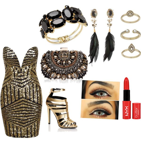 classy date look by nushmiya-noor on Polyvore featuring polyvore, fashion, style, Lipsy, Alexis Bittar, Thalia Sodi and Topshop