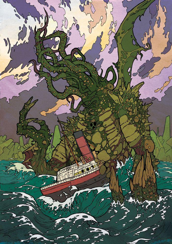 Lovecraft illustrations by artist Andrey Fetisov
