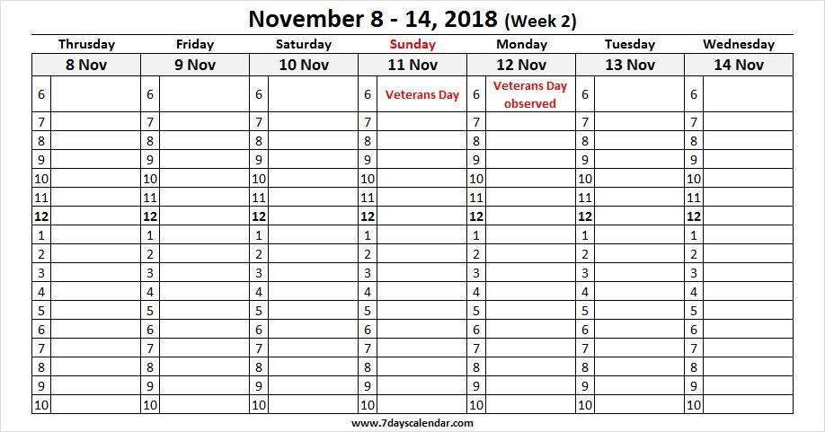 Calendar Week 2018