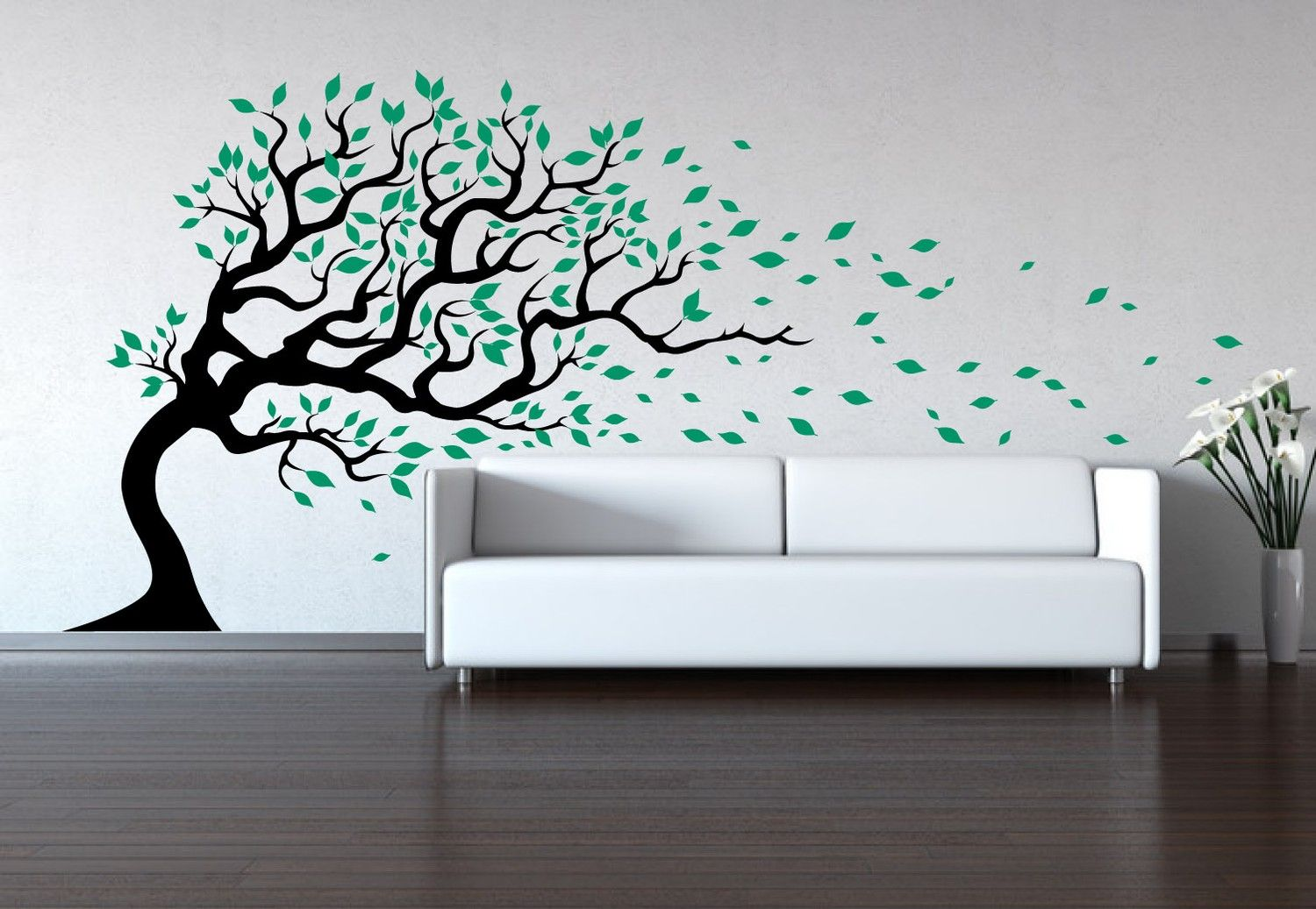 Tree Wall Decal   Wind Blowing   Wall Sticker Decal Baby Decal Sticker.  $97.00,