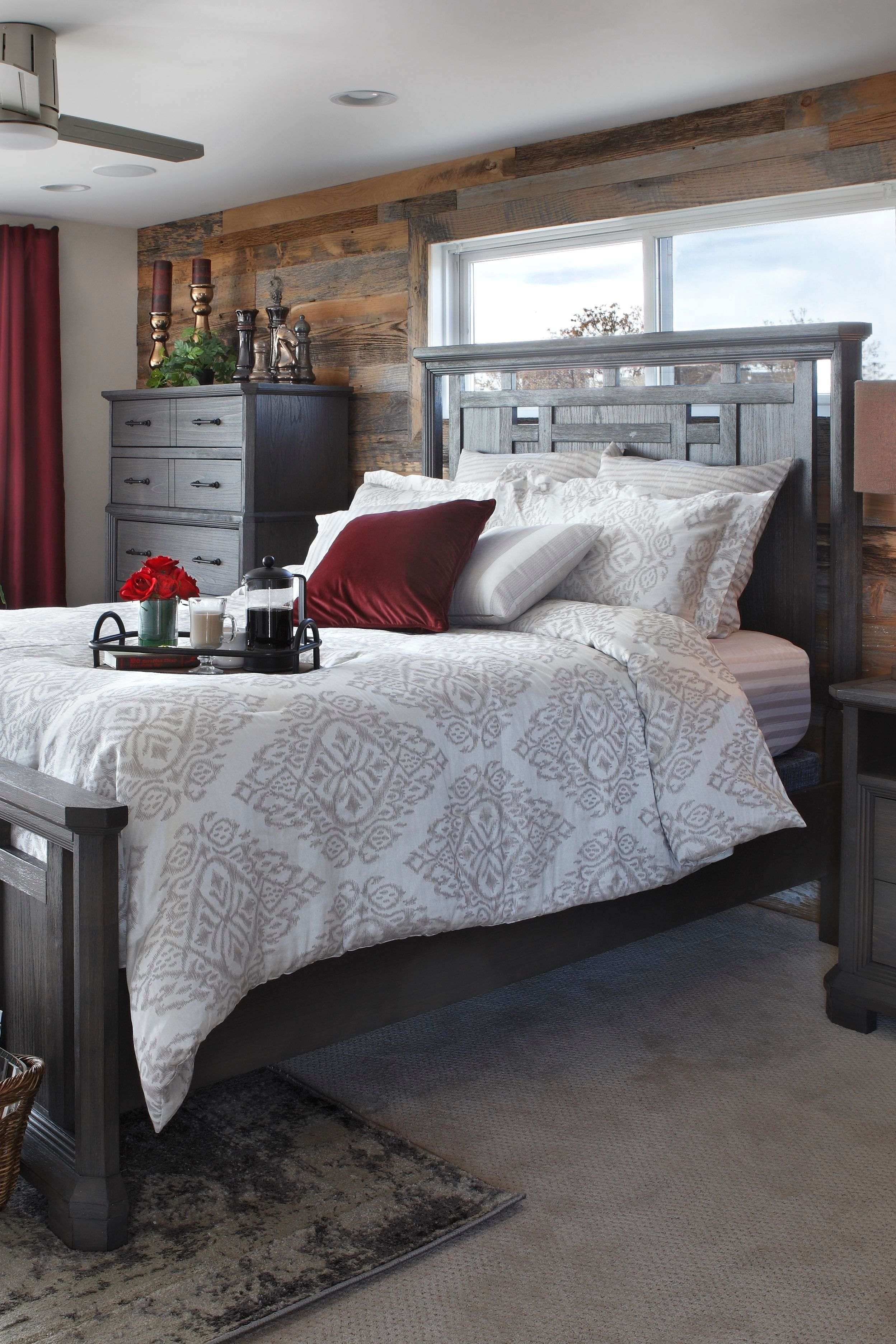 Gray's Peak Panel Bed Panel bed, Contemporary bedroom