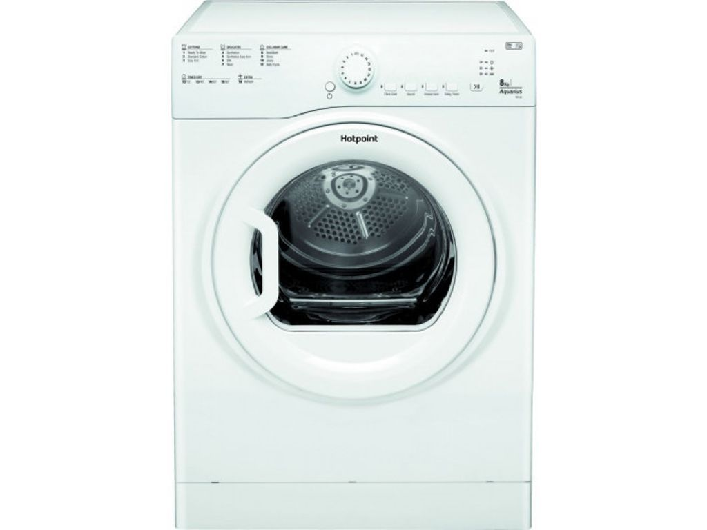 Hotpoint Tvfs83cgp9 8kg Aquarius Vented Tumble Dryer In White Sensor Hotpoint Tumble Dryer Sensor