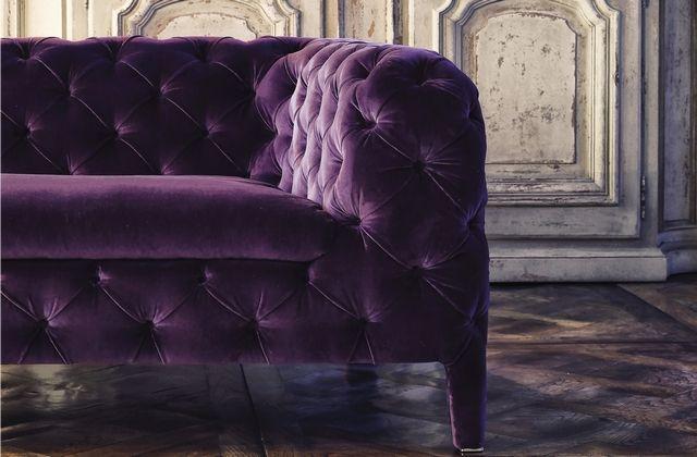 Purple Windsor Sofa