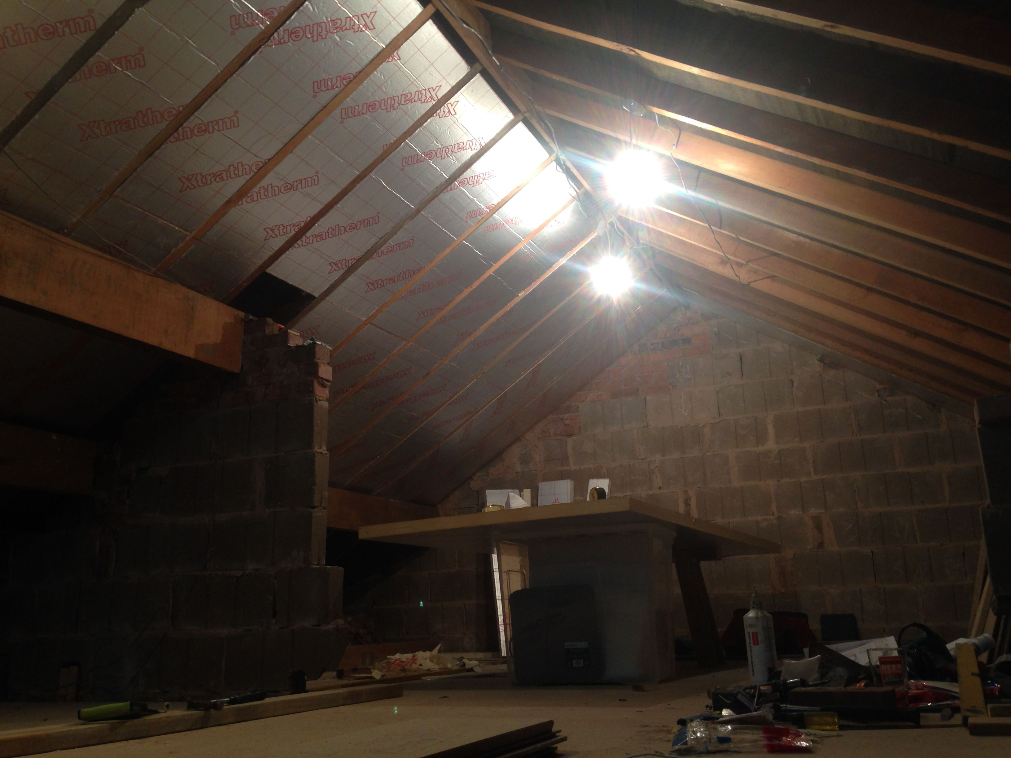 Loft conversion insulation between rafters