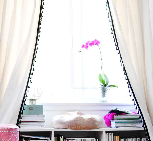 How To Decorate For Less Trim Your Store Bought Curtains And Make