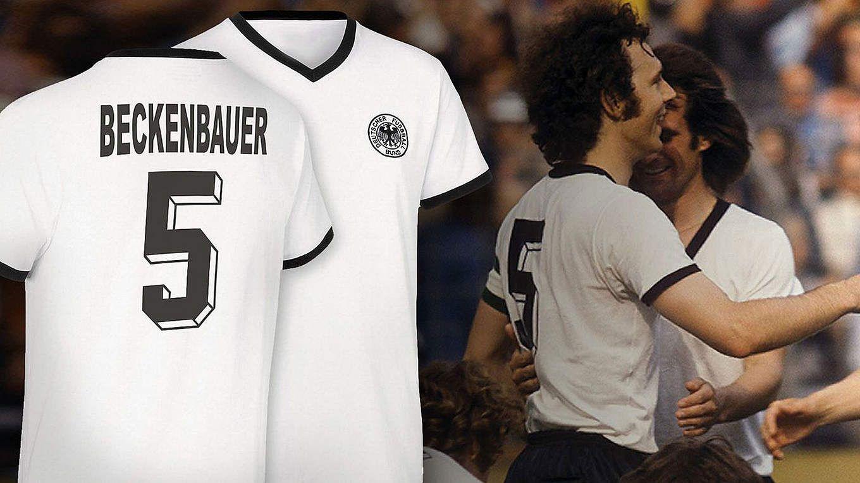 Franz Beckenbauer 1974 | 70 Jahre Franz Beckenbauer: Retrotrikot 1974 zum Sonderpreis :: DFB ...