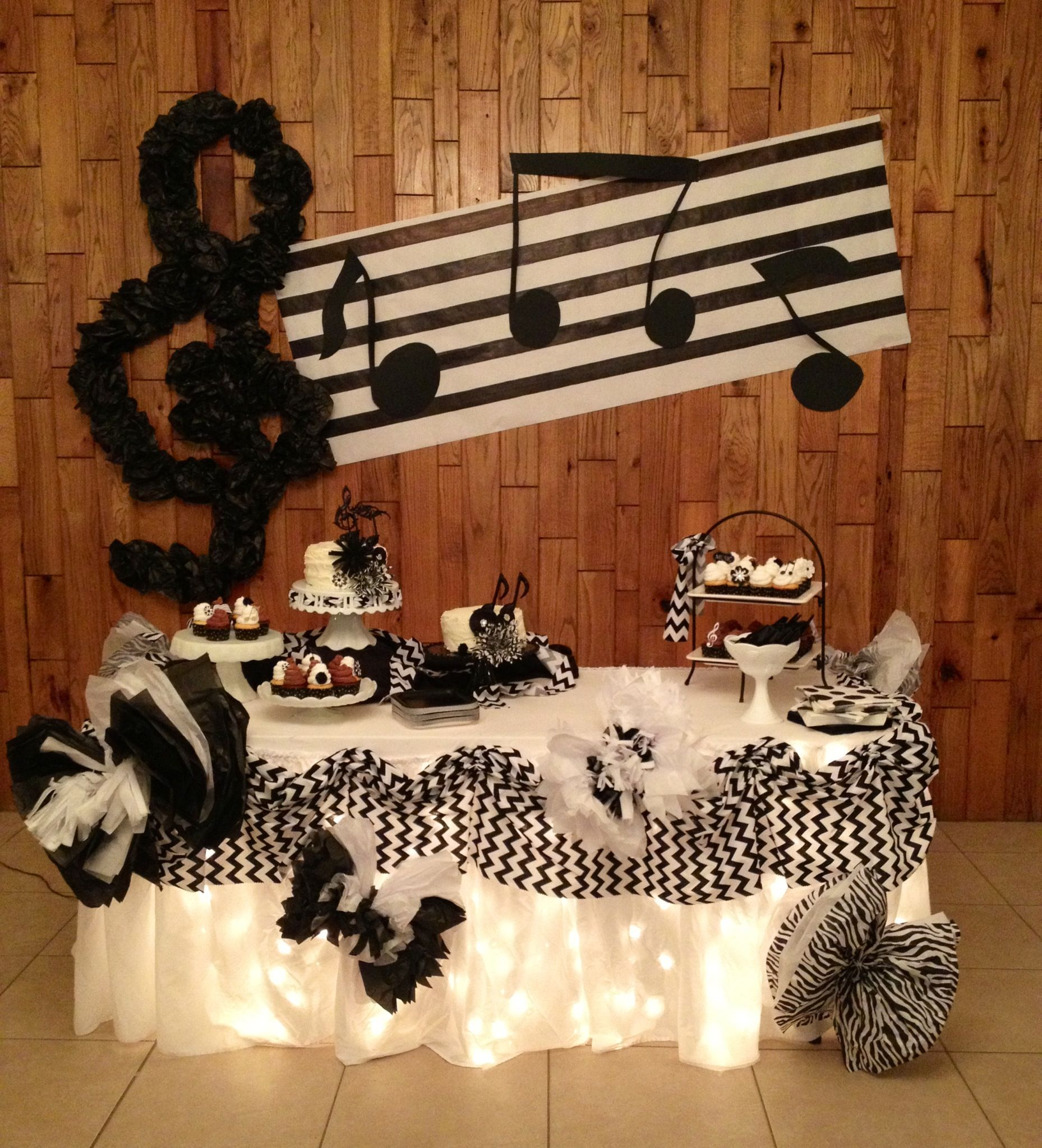 Music Themed Party Pop Star Birthday Party Pinterest