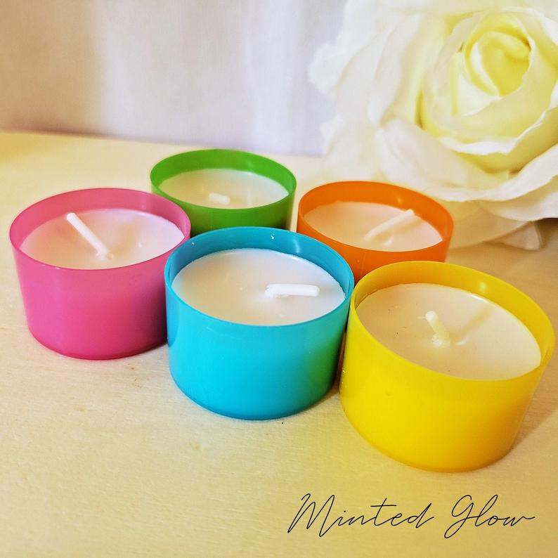 Unscented Tea Light Candles White