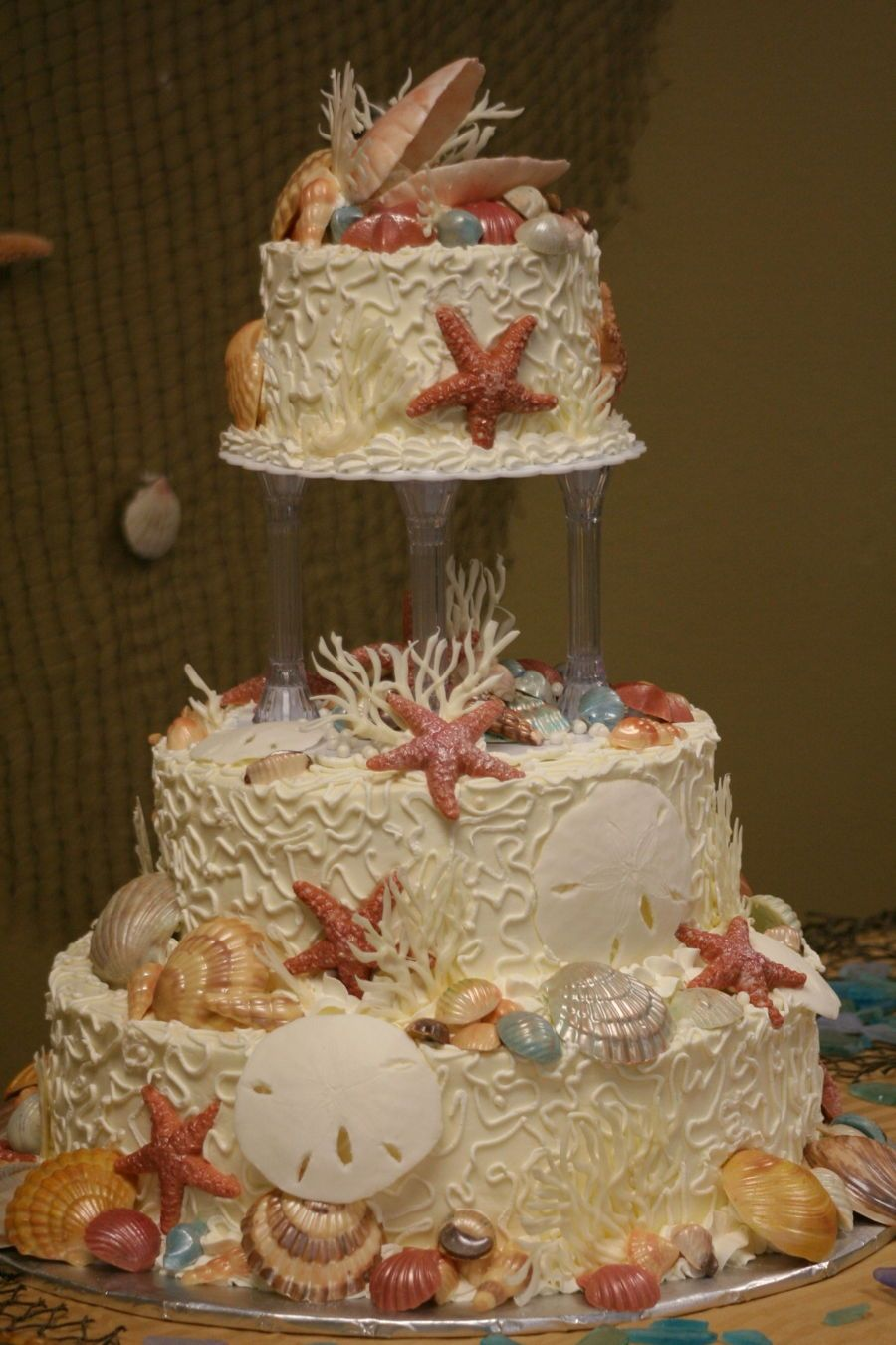 By the sea wedding cake on cake central pez pinterest cake