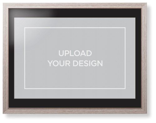 Upload Your Own Design Framed Print, Rustic, Modern, Cream, Black, Single piece, 24 x 36 inches