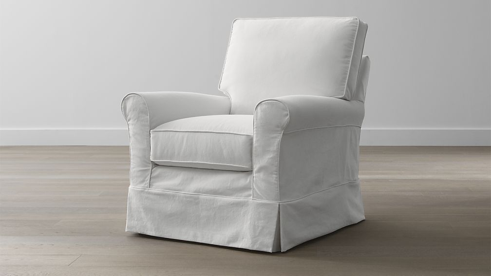 Harborside Slipcovered Swivel Glider Slipcovers For Chairs Living Room Chairs Slipcovers