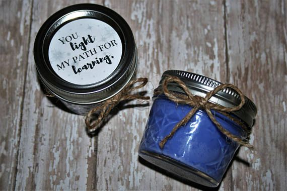 Teacher's Gifts Soy Candles Mason Jar Candle
