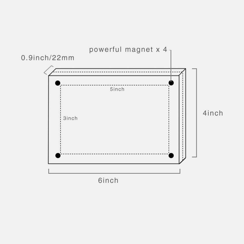 Twing Acrylic Photo Frame 5x7 Inches 4 Magnet Double Sided Photo Frame With Microfiber Clot Clear Picture Frames Acrylic Photo Frames Magnetic Picture Frames