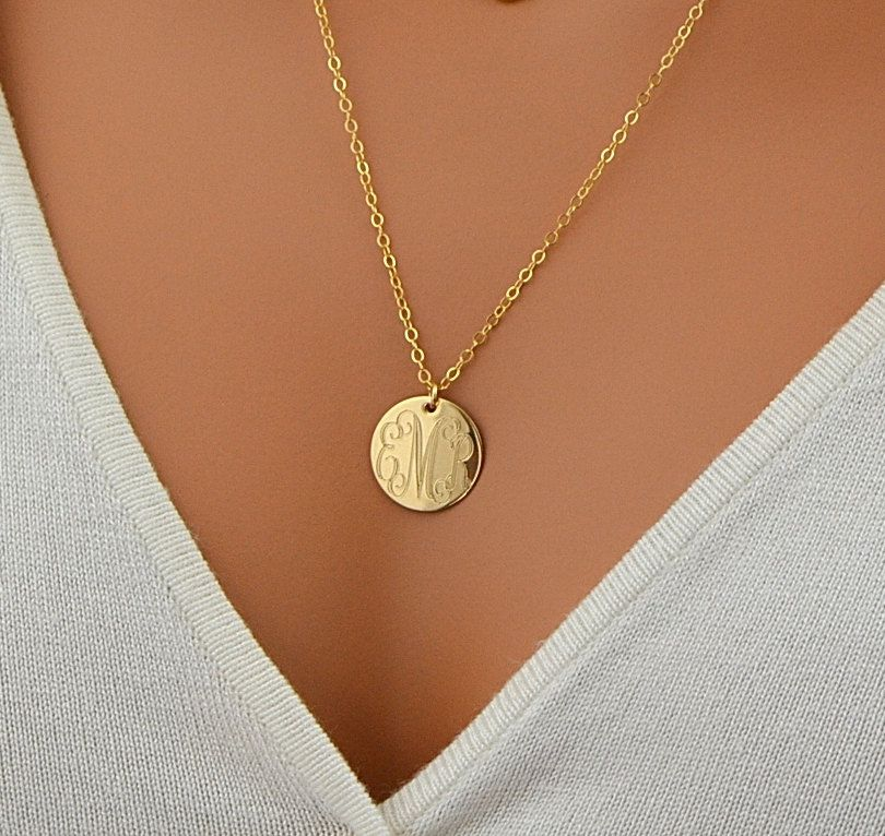 Monogram necklace gold disc necklace initial necklace monogram necklace gold disc necklace initial necklace personalized disc necklace name necklace mozeypictures Choice Image