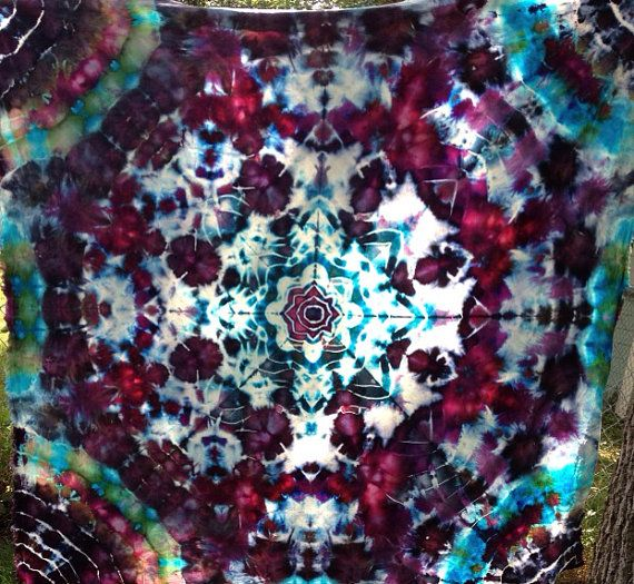 2527aa749c80 MANDALA Tie Dye Tapestry a Perfect by TwistedSisterTieDyes