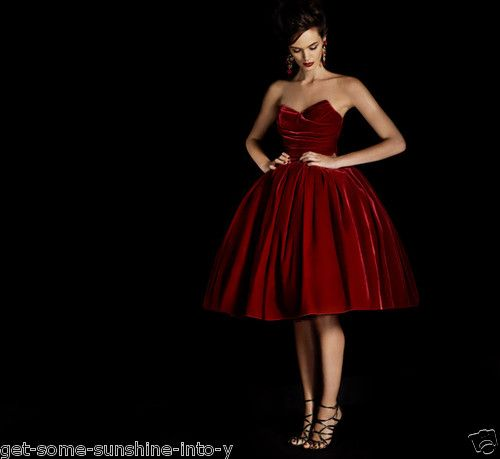 Devilish Dolce Gabbana Red Velvet Prom Dress