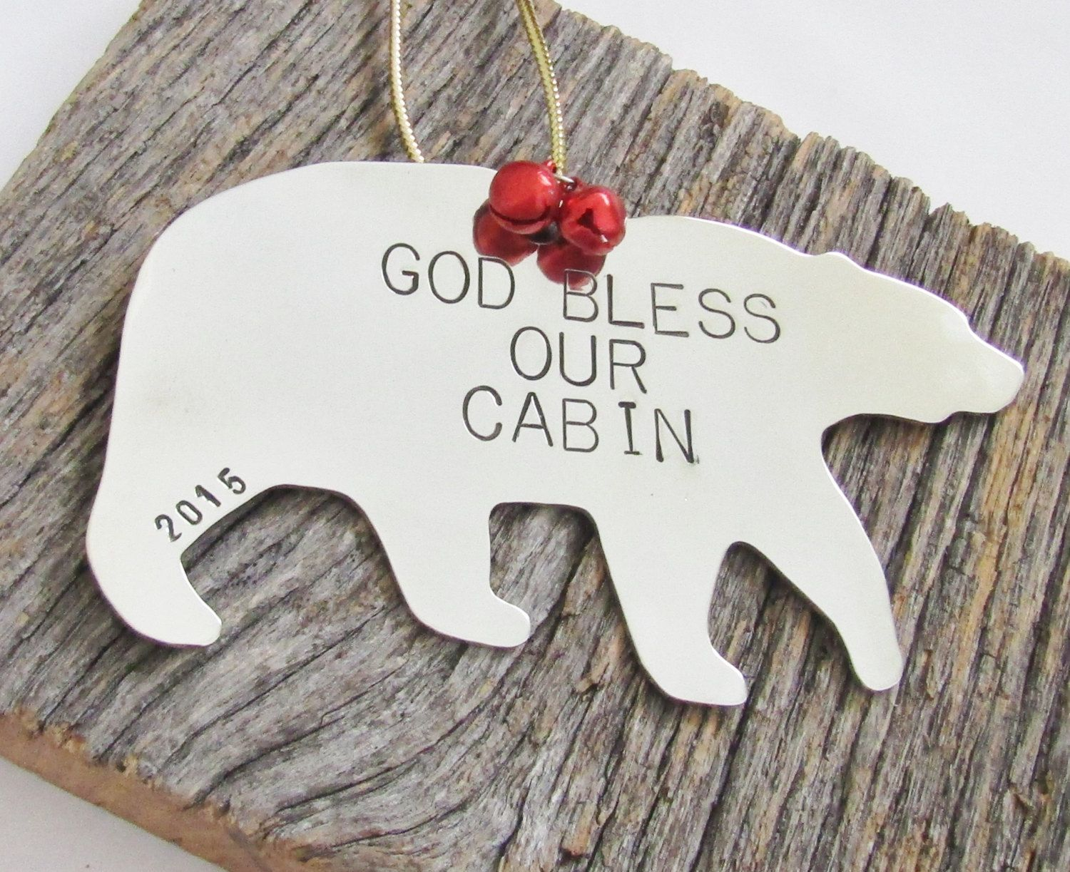 God Bless Our Home Ornament Cabin Decor Rustic Ornament Christmas ...