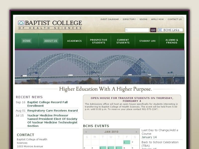 Baptist college of health sciences health science