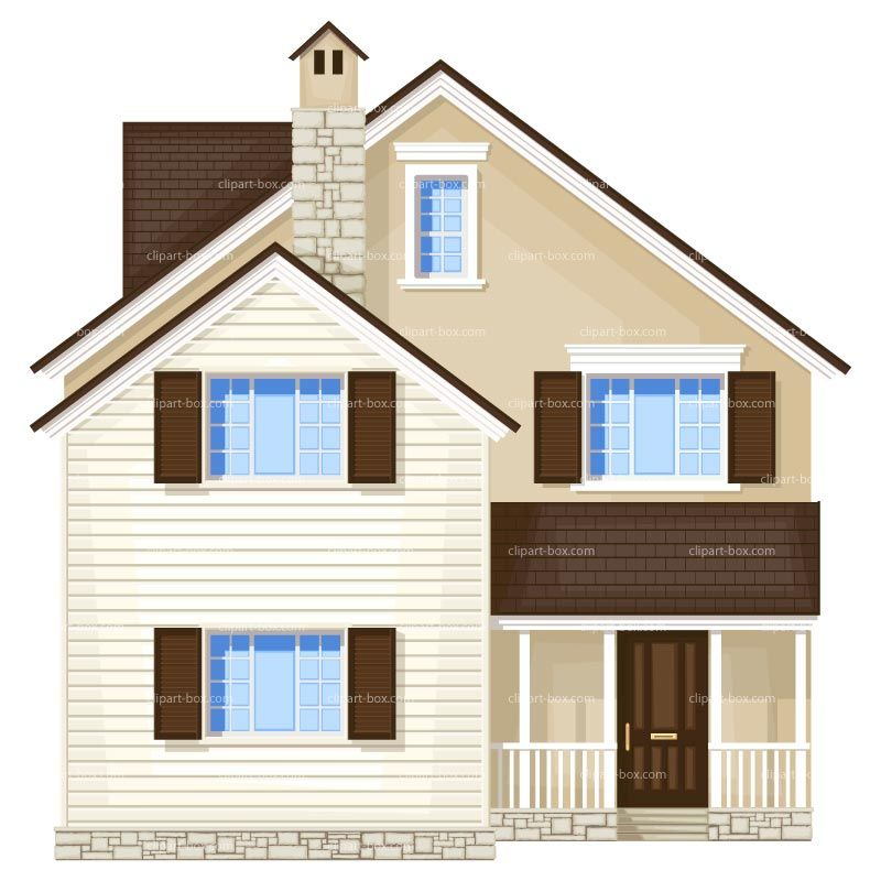 CLIPART HOUSE FRONT VIEW | Royalty free vector design | casitas ...