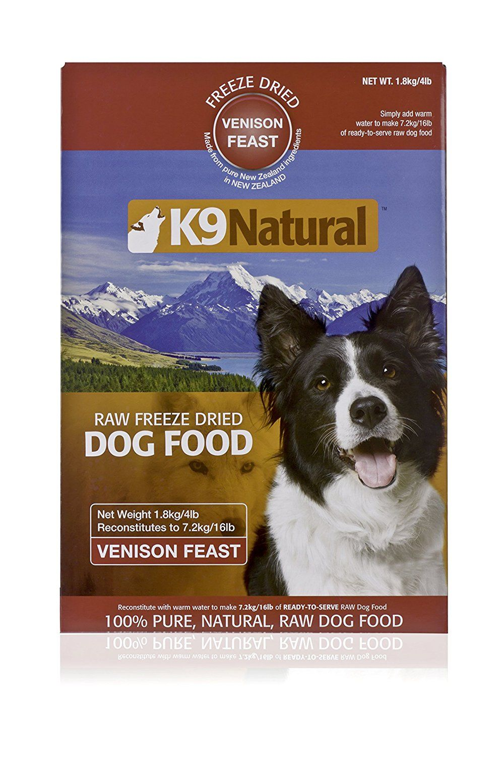 K9 Natural Freeze Dried Pet Food, 4Pound, Venison