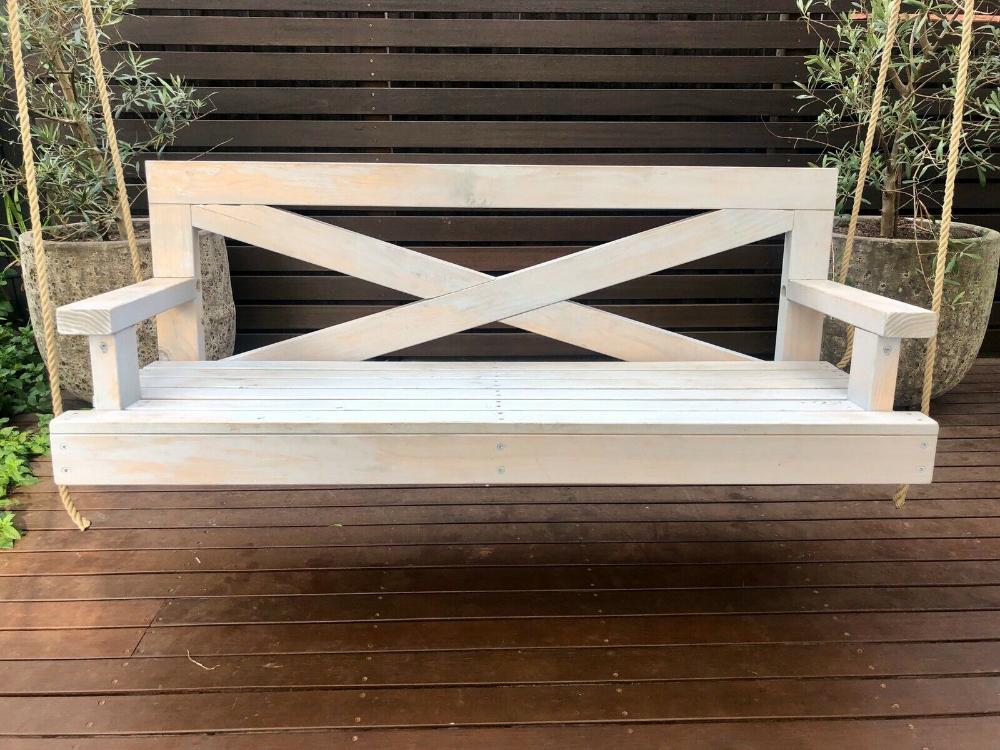 white hamptons style porch swing ebay
