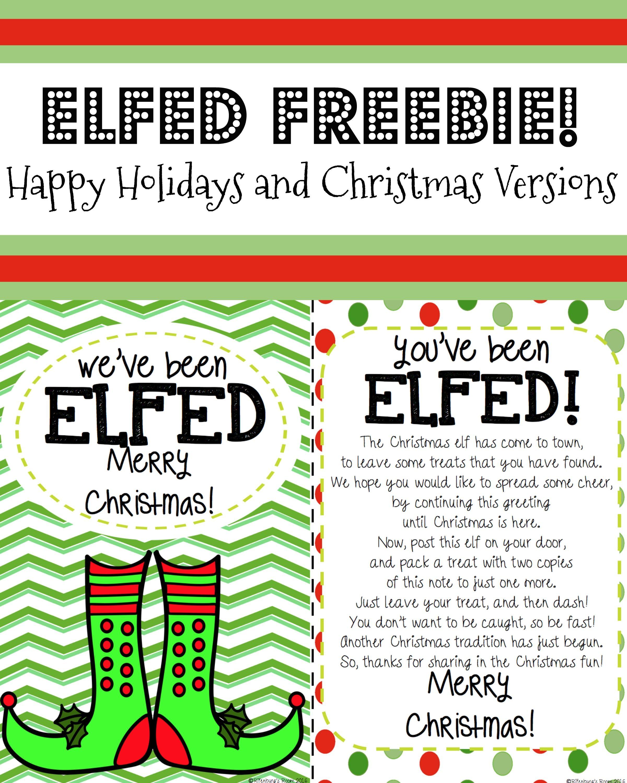 You've Been ElfedElf FunElf Printable ELFED Printable