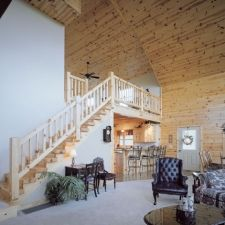 Best Knotty Pine Rustic Stairway Railing Stairs Wood Stairs 400 x 300