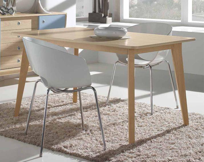 mesa de comedor retro brosman material tablero de microparticulas mueble realizado en melamina y patas - Mesa Comedor Vintage