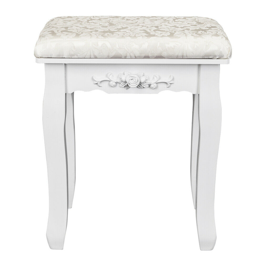 Vanity Stool Dressing Stool With Cushion And Wood Legs Dressing Chair Dressing Stool Wood Vanity Vanity Stool