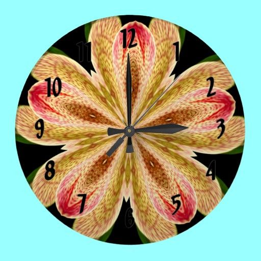 Orchid Kaleidoscope Clock  Prices start at around $24.00