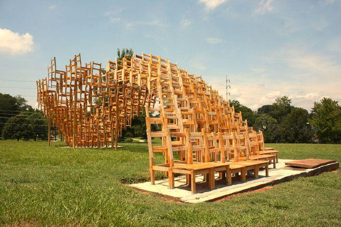 pabellón de sillas