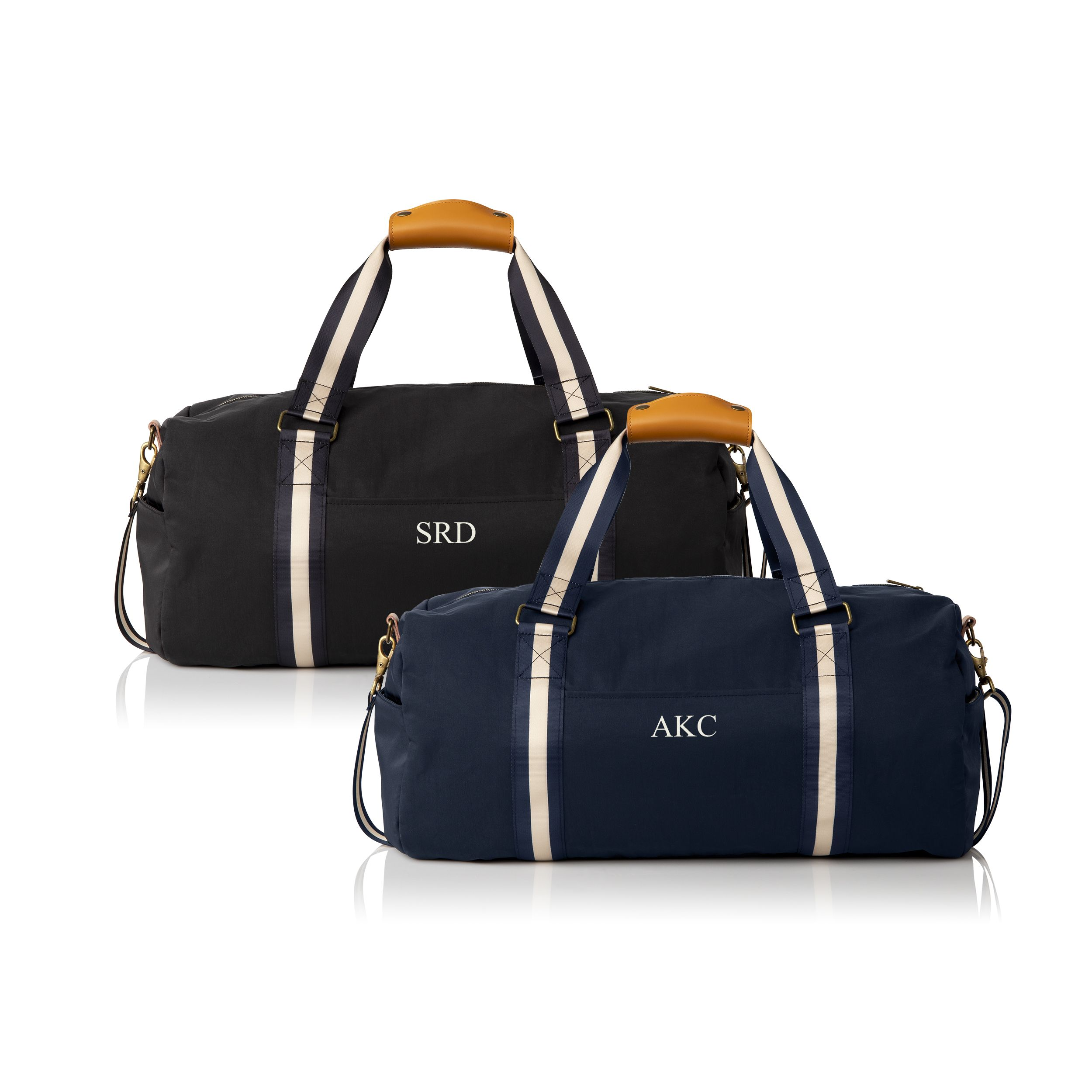 8 Groomsman Gifts 8 Duffle bags Free shipping Grooms gift monogrammed travel bags Personalized Goomsman gifts personalized mens bags