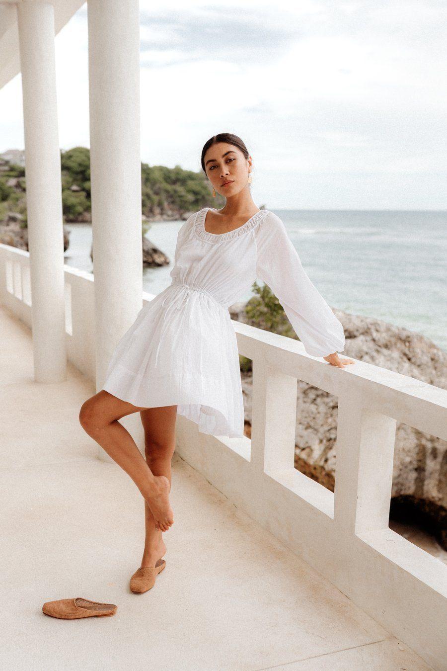 Pin By Dear Ale On My Style White Cotton Dress Dresses White Dress [ 1350 x 900 Pixel ]