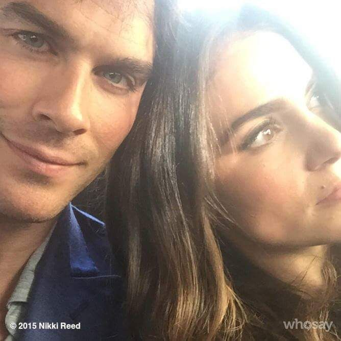 New #somereed pic.....awww!!! Sorry @NikkiReed_I_Am but @iansomerhalder is a little more cute than you here....