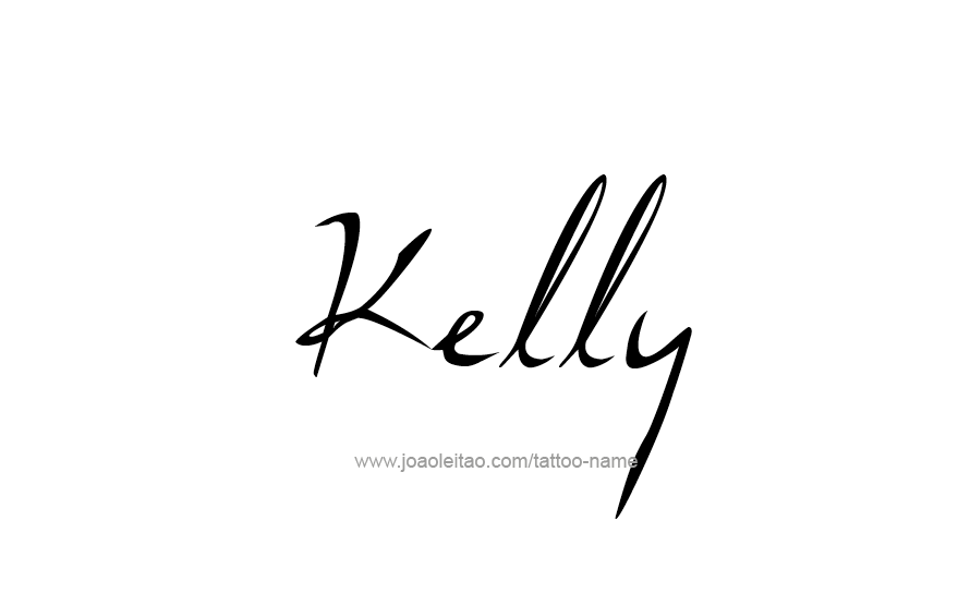 Kelly Name Tattoo Designs (With images)   Name tattoo ...