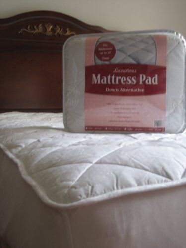 Fitted Luxurious Down Alternative Mattress Pad 100 Cotton